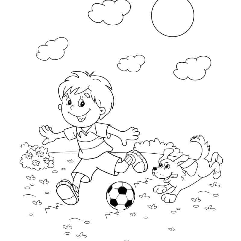 Coloring Page Orthotics and Sports