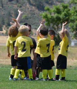 Young soccer team