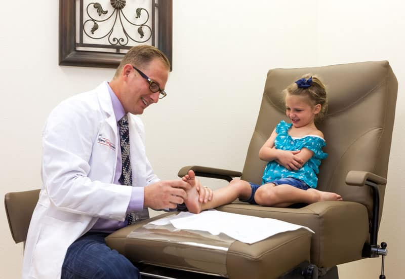 Children's feet examination, Pediatric Foot and Ankle, Gilbert AZ