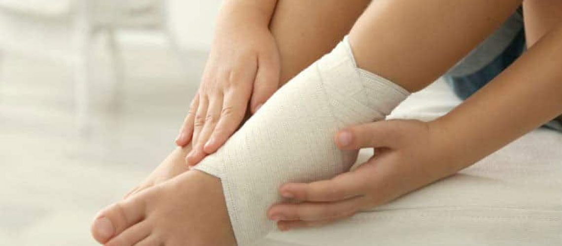 Sport injury on child's ankle, Pediatric Foot & Ankle, Gilbert AZ